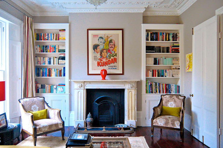 Alwyne Place, Islington:  Living room by Emmett Russell Architects