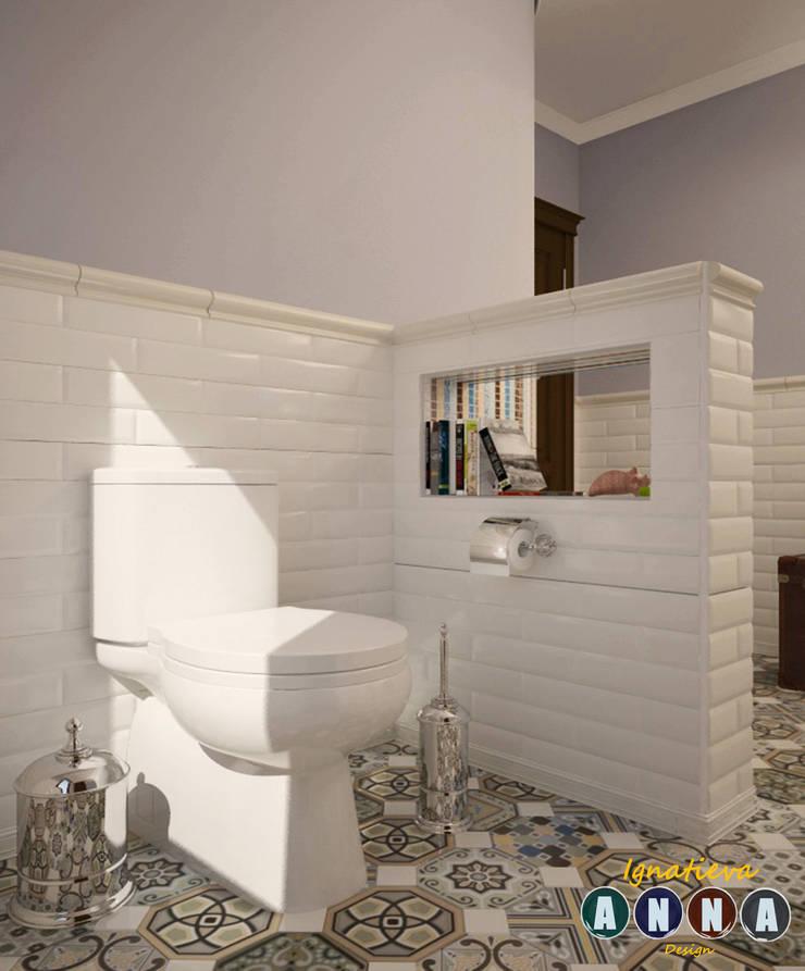 А НА НЕБЕ ТОЛЬКО И РАЗГОВОРОВ, ЧТО О МОРЕ… : Ванные комнаты в . Автор – Дизайн-студия Анны Игнатьевой