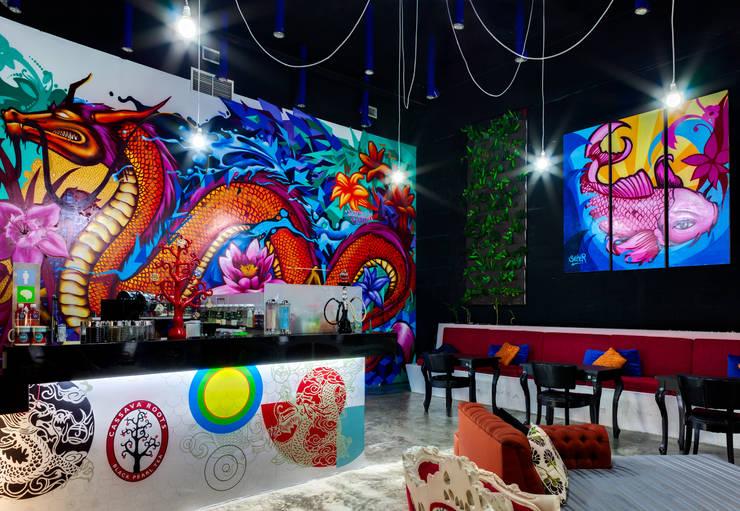 Cassava Roots© Veracruz: Restaurantes de estilo  por Taller ADC Architecture Office