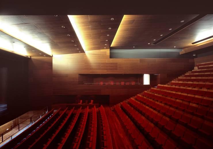 iNTERIOR SALA: Salas multimedia de estilo  de gabriel verd arquitectos