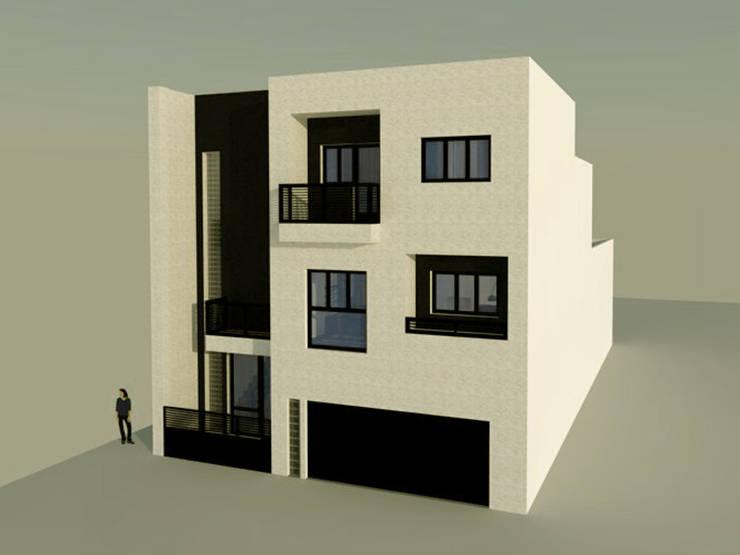Vivienda unifamiliar aterrazada: Casas de estilo  de Ear arquitectura