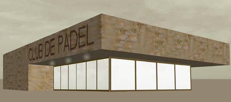 Club de Padel en Parla (Madrid).: Gimnasios domésticos de estilo  de Ear arquitectura