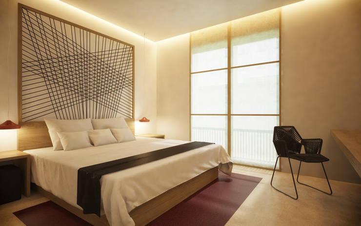 HOTEL ESTAMBUL: Hoteles de estilo  de Piedra Papel Tijera Interiorismo