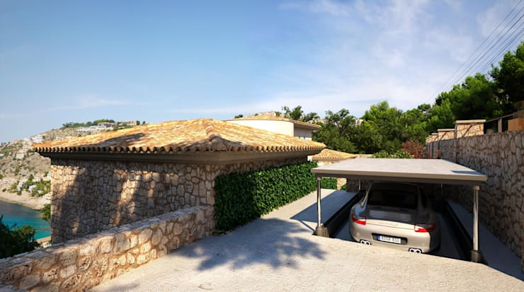 Garage/Rimessa in stile  di Realistic-design