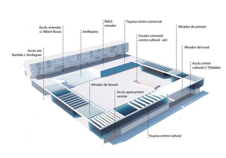 Concurso Nueva Centralidad en Valldoreix:  de estilo  de Under Project Lab