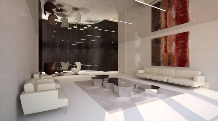 Proyecto 3D: Oficinas y Tiendas de estilo  de Realistic-design
