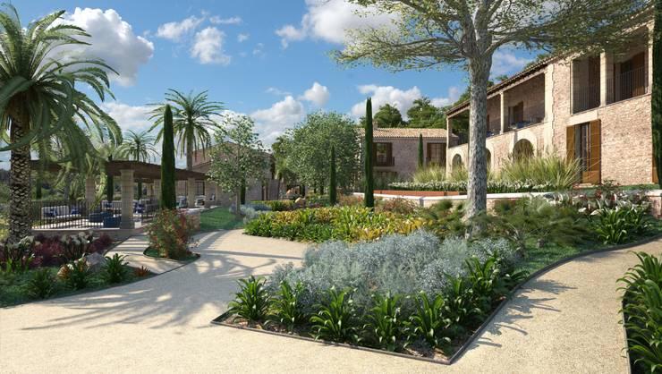 Proyecto 3D: Jardines de estilo  de Realistic-design