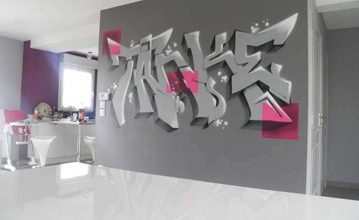 Ambiance Graffiti Dans Un Salon Cuisine Von Popek Decoration Homify