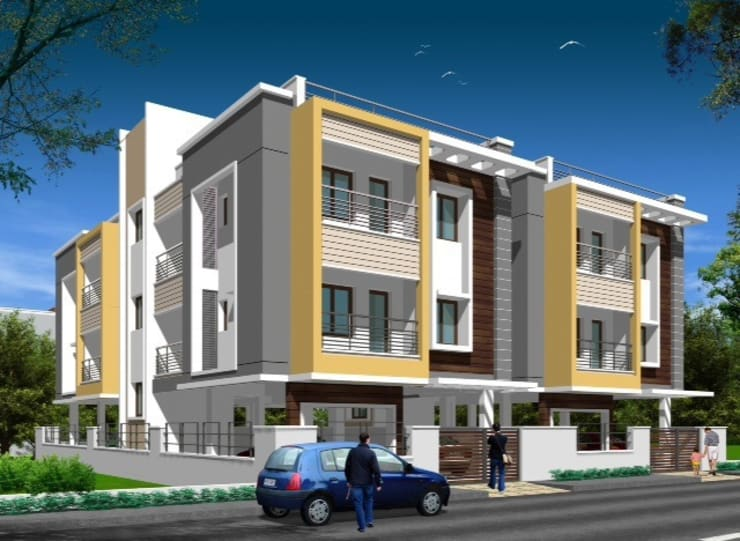Architectural Projects:  Houses by Fine Living Constructions Pvt Ltd