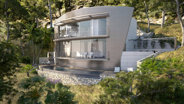 Proyecto 3D: Piscinas de estilo  de Realistic-design