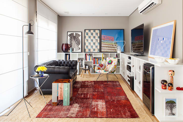 Salas / recibidores de estilo  por Mauricio Arruda Design