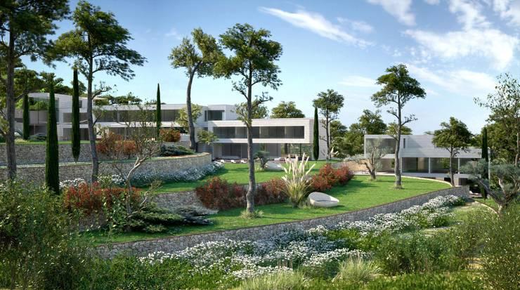 Proyecto 3D - Paisajismo: Jardines de estilo  de Realistic-design