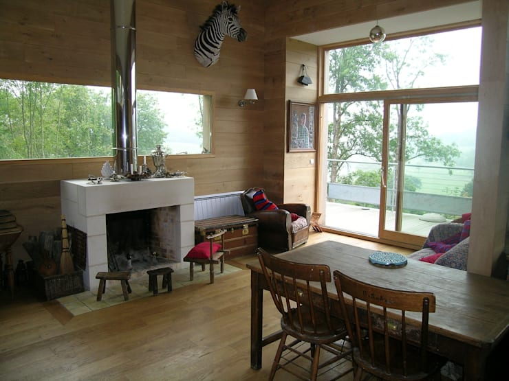salon et belvédère: Maisons de style de style Moderne par L'établi