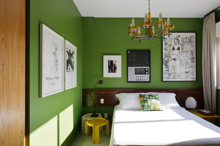 Residência Lorena: Quartos  por Mauricio Arruda Design