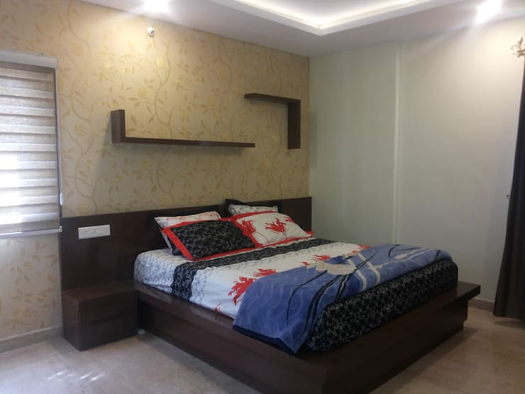 Private Client At Sahakarnagar Bangalore:  Bedroom by Arka Interio