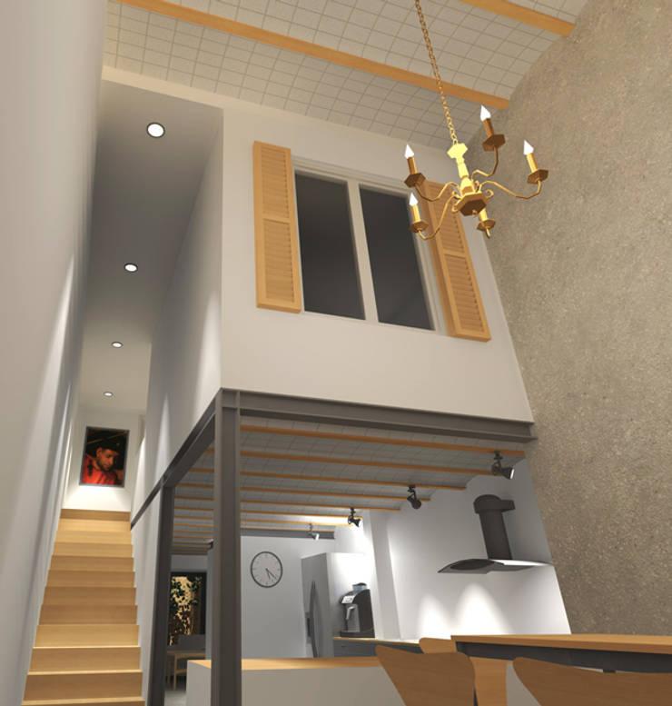 Apartamento Dúplex:  de estilo  de estudio-HA