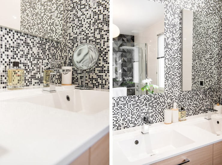 Salle de bain : Salle de bains de style  par Marion Lanoë Architecte d'Intérieur