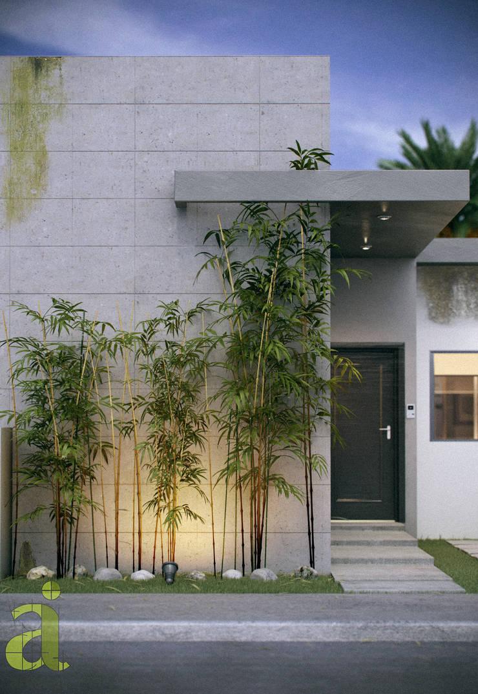Casa residencial en Medellín de Bravo, Veracruz, Mex.: Casas de estilo  por arQing, Minimalista