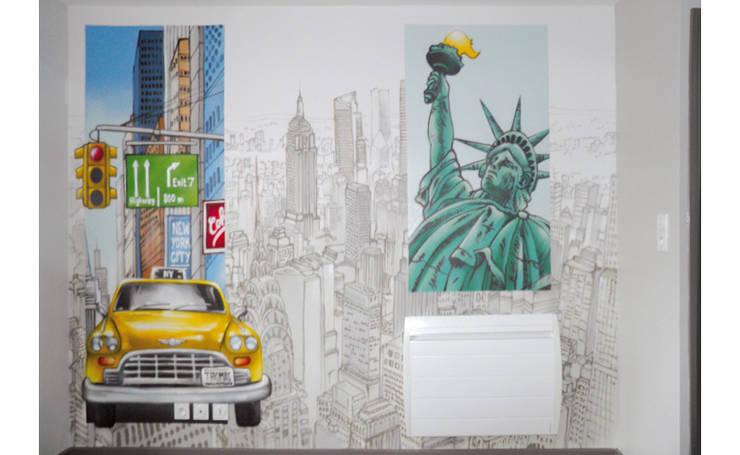 AMBIANCE NEW YORK POUR CHAMBRE D'ENFANT: Chambre d'enfant de style de style Moderne par Popek décoration