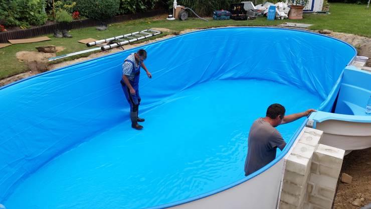 Erneuerung Swimmingpool:   von Garten- und Landschaftsbau Gartenservice Schwanewede