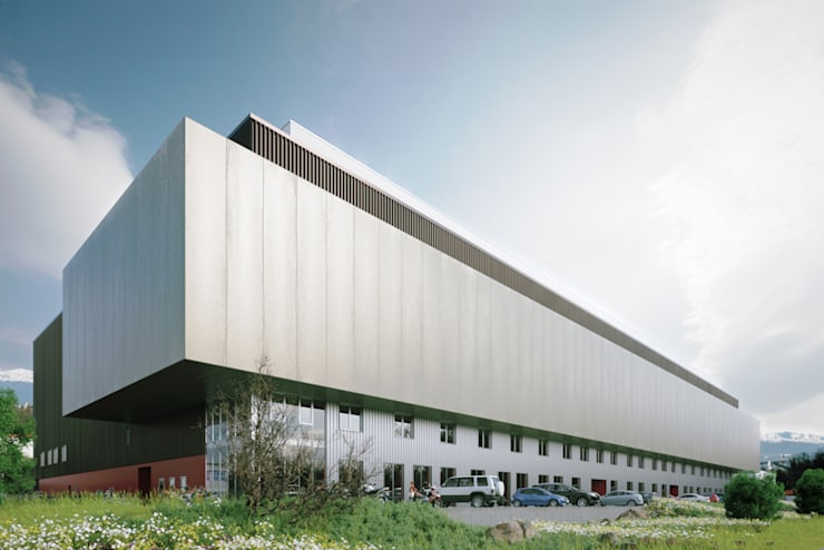 Hôtel Industriel des Gallants: Espaces commerciaux de style  par Strata Architecture