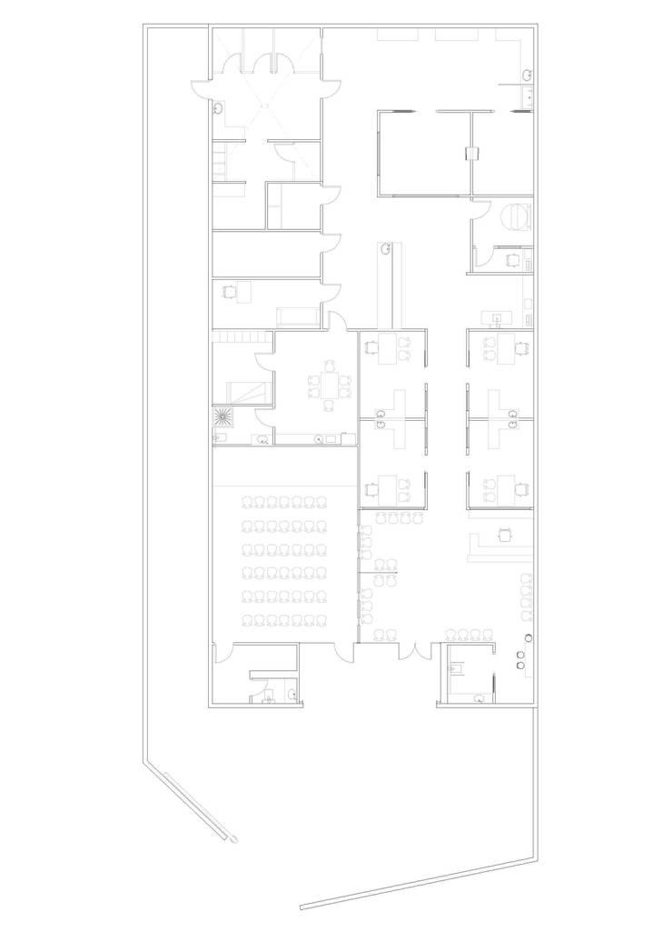 PLANO DE DISTRIBUCIÓN: Oficinas y Tiendas de estilo  de Sheila Cuello design