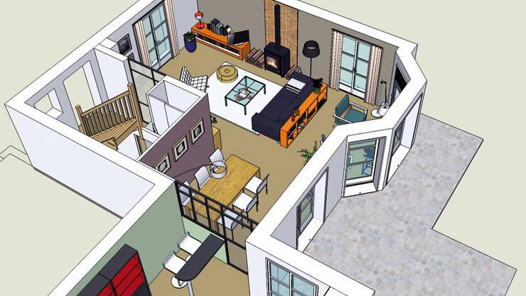 Maison <q>Atelier</q>: Maisons de style de style Industriel par Harfang Decoration