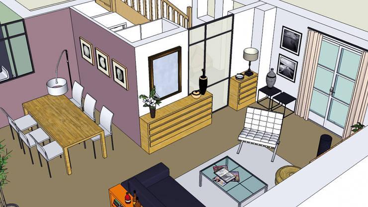 """Maison """"Atelier"""": Maisons de style  par Harfang Decoration"""