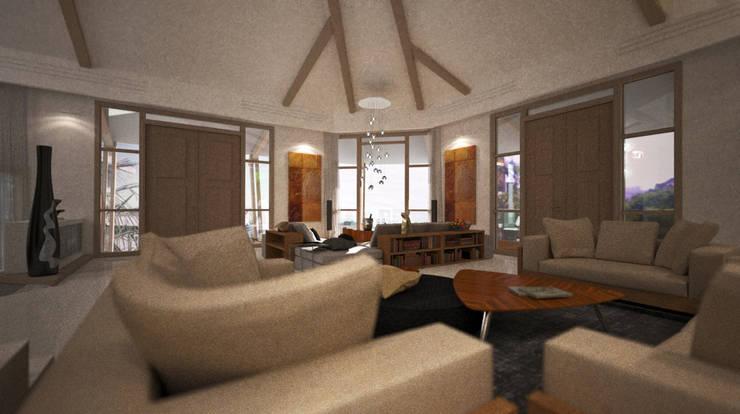 Villa Joà_zona living:  in stile  di Emanuele Pillon Architetto
