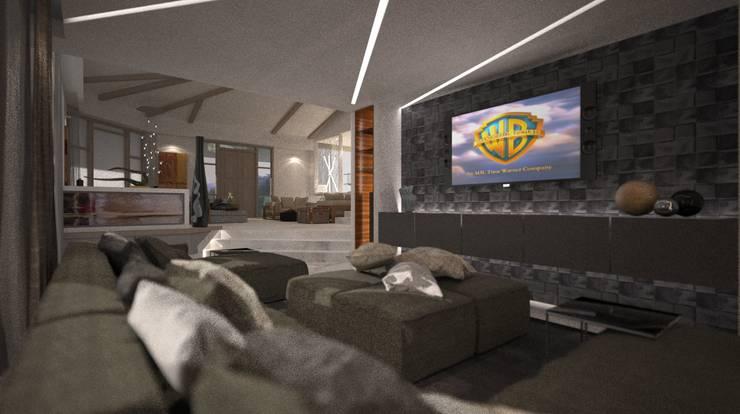 Villa Joà_Cinema room:  in stile  di Emanuele Pillon Architetto