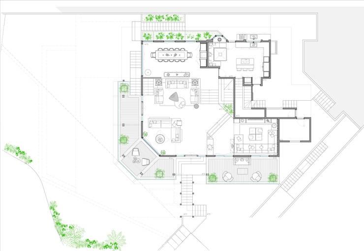 Villa Joà_Planimetria piano primo:  in stile  di Emanuele Pillon Architetto