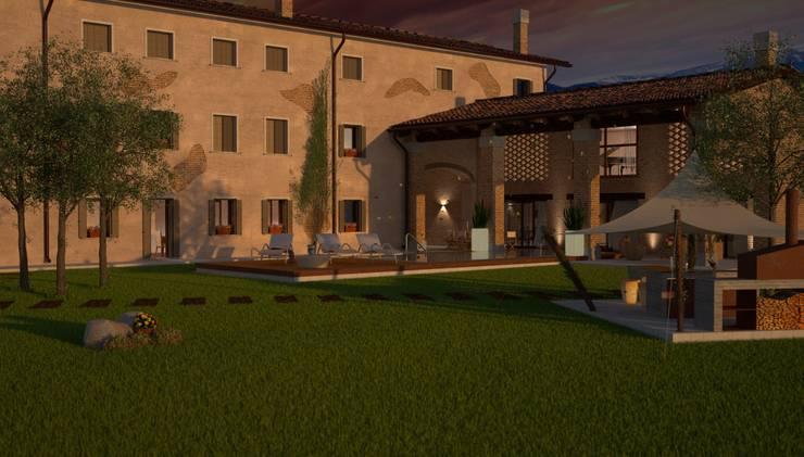 Villa R_Giardino:  in stile  di Emanuele Pillon Architetto