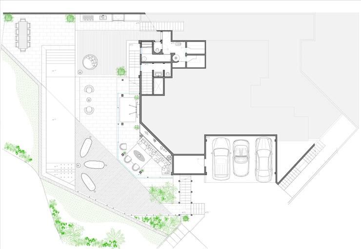 Villa Joà_Planimetria piano terra e giardino:  in stile  di Emanuele Pillon Architetto