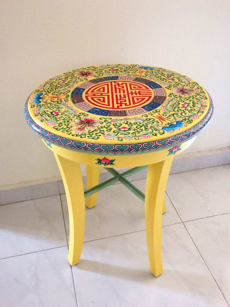 Chinoserie side table :   by Art From Junk Pte Ltd