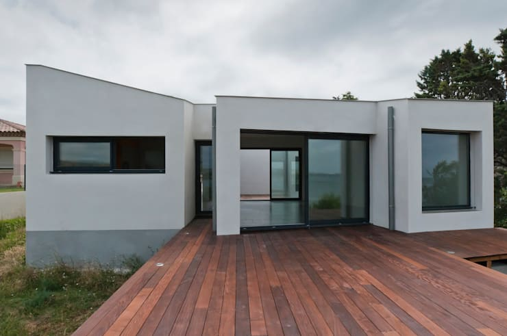Façade Ouest: Maisons de style  par Frédéric Saint-cricq Architecte