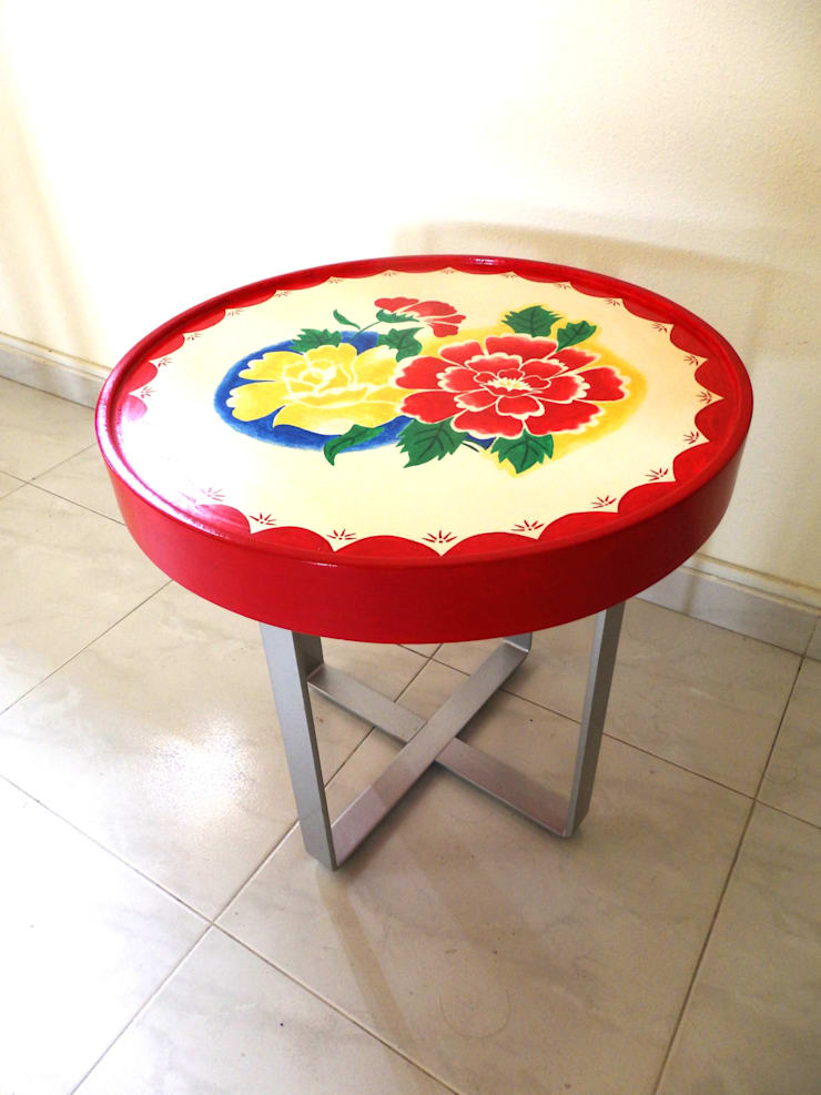"Enamel tray table: {:asian=>""asian"", :classic=>""classic"", :colonial=>""colonial"", :country=>""country"", :eclectic=>""eclectic"", :industrial=>""industrial"", :mediterranean=>""mediterranean"", :minimalist=>""minimalist"", :modern=>""modern"", :rustic=>""rustic"", :scandinavian=>""scandinavian"", :tropical=>""tropical""}  by Art From Junk Pte Ltd,"