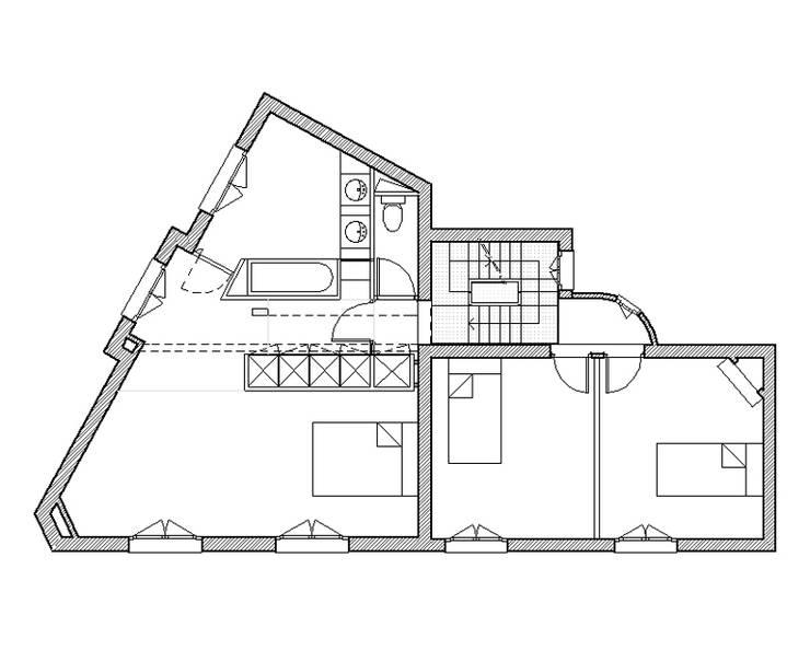 maisons 13ème – paris:  de style  par clermont architectes