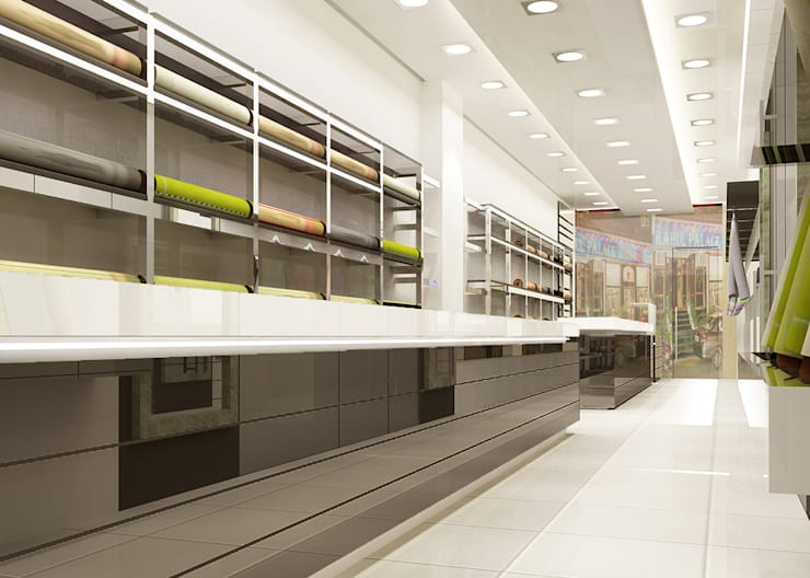 Apparel Showroom :  Shopping Centres by Decons Architecture and Interior