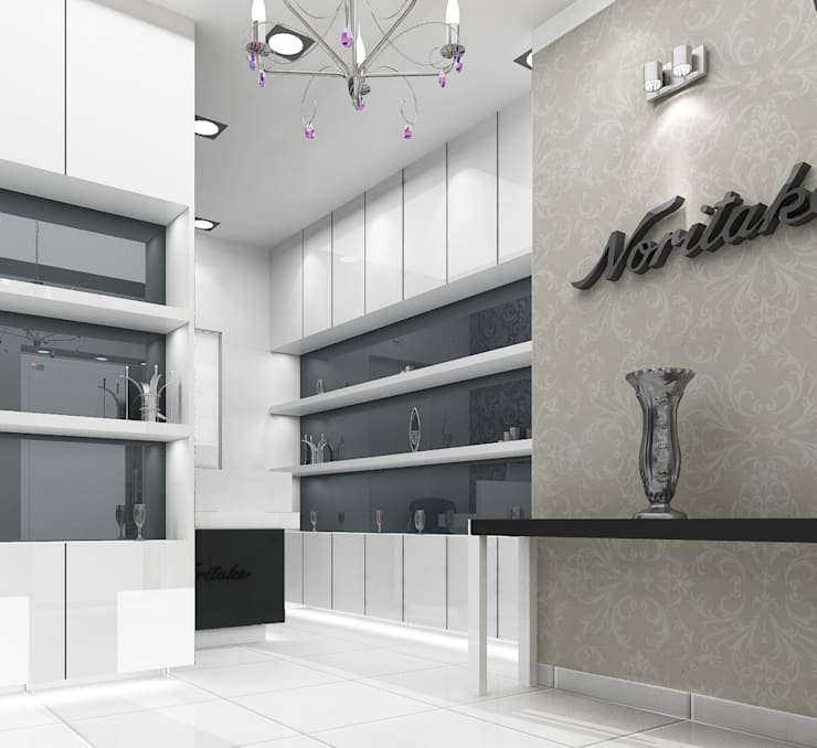 Noritake Showroom:  Commercial Spaces by Decons Architecture and Interior