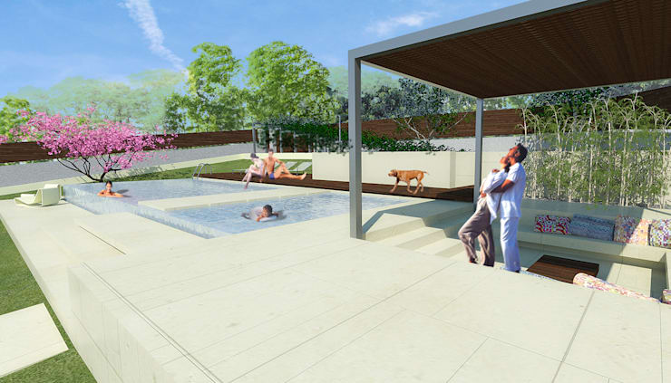 modern  oleh G*AA - Giaquinto Architetti Associati, Modern