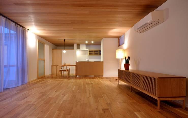 主室 北欧デザインの リビング の ツジデザイン一級建築士事務所 北欧