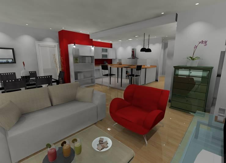 Appartement parisien Paris 11: Salle à manger de style de style Moderne par In'Archy