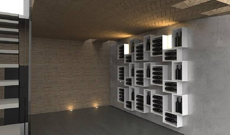 Portabottiglie dal design moderno Esigo 5 - Composition di Esigo SRL Moderno Legno Effetto legno