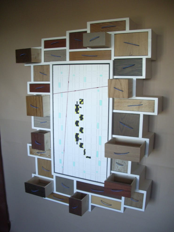 """mobile da parete """"salamandra"""":  in stile  di Studio Bozzi,"""