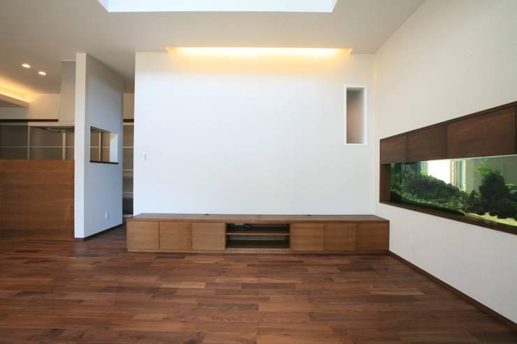 江田島-三高の家: CAF垂井俊郎建築設計事務所が手掛けたリビングです。