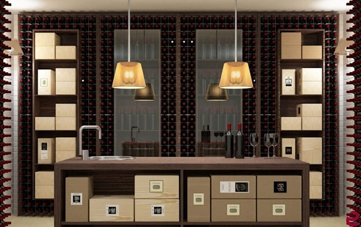 Arredamento Esigo per cantina - Versione Wall: Cantina in stile  di Esigo SRL