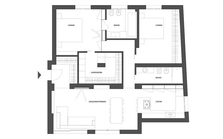 A03 | RISTRUTTURAZIONE APPARTAMENTO BOLOGNA: Case in stile  di Matteo Spattini Architetto