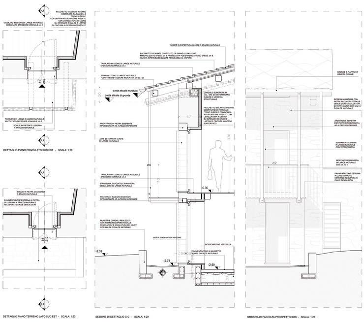 Dettagli Costruttivi di progetto:  in stile  di AAT Studio, Minimalista
