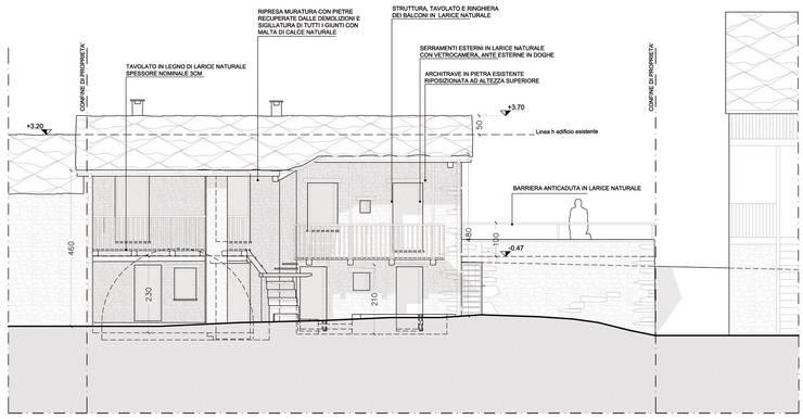 Prospetto SUD - facciata su strada interna:  in stile  di AAT Studio, Minimalista