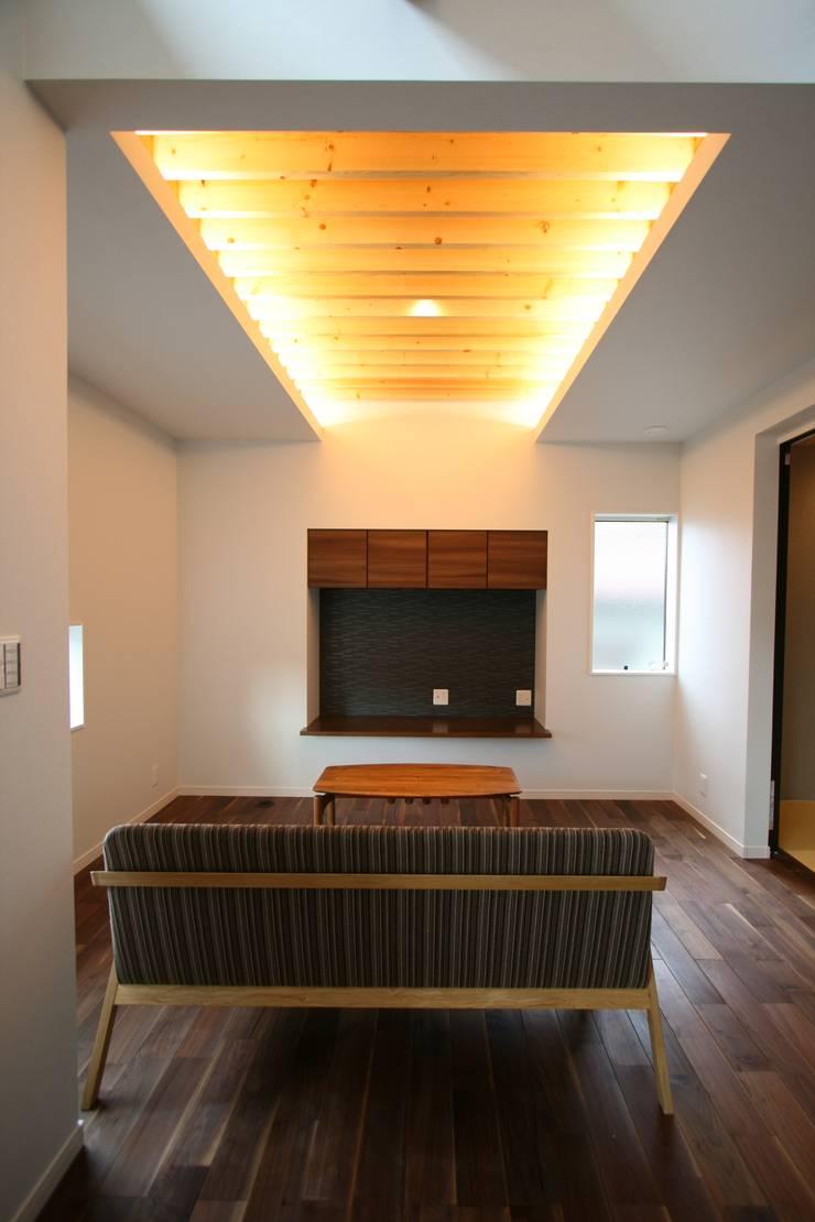 上温品の家: CAF垂井俊郎建築設計事務所が手掛けたリビングです。,オリジナル